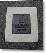 Shea Stadium Third Base Metal Print