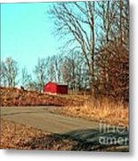 Shed Around The Bend Metal Print
