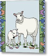 Sheep Artist Sheep Art Metal Print