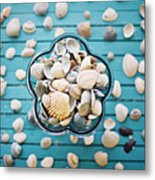 Shells In Bowl Metal Print