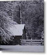 Shelter From The Cold Metal Print
