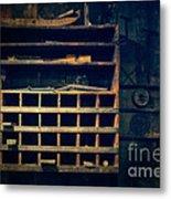 Shelves In The Cedar Creek Mill  Metal Print