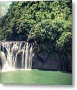 Shifen Waterfall Metal Print