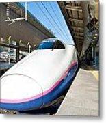 Shinkansen At Tokyo Station Metal Print