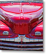 Shiny Red Ford Convertible. Metal Print
