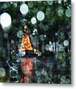 Shiny Tree In Bienville Square Metal Print