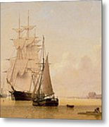 Ship Painting Metal Print by WF Settle