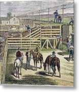 Shipping Cattle, 1877 Metal Print
