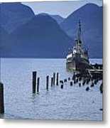 Shipping Freighter In Squamish British Columbia No.0201 Metal Print