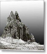 Shiprock Mountain Four Corners Metal Print