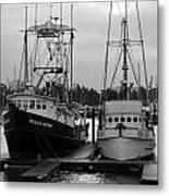 Ships At Anchor Metal Print