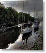 Ships On The Almond River Metal Print