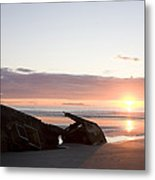 Shipwreck, Boats, Danger, Rotting Metal Print