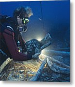 Shipwreck Excavation Metal Print