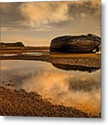 Shipwrecked Boat Metal Print