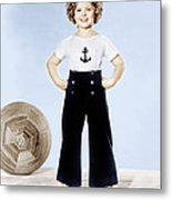 Shirley Temple, Studio Portrait, Ca Metal Print by Everett