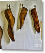 Shoe - Wooden Shoe Forms Metal Print