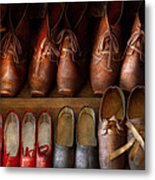 Shoemaker - Shoes Worn In Life Metal Print by Mike Savad