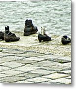 Shoes On The Danube Bank - Budapest Metal Print