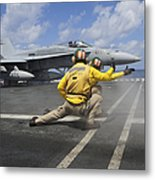 Shooters Give The Signal To Launch An Metal Print