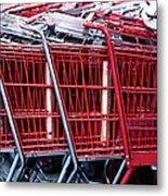 Shopping Carts Metal Print by Sam Bloomberg-rissman