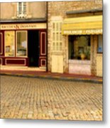 Shops In Beaune France Metal Print