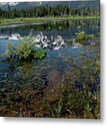 Shore Reflections Of Mt Tallac Metal Print