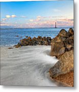 Shoreline View Morris Island  Metal Print by Jenny Ellen Photography
