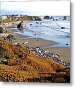 Shores Of Oregon Metal Print