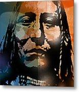Shoshone Brave Metal Print