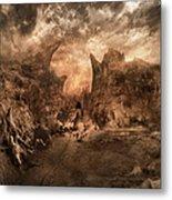 Shouting Valley Metal Print by Akos Kozari