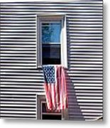 Showing The Flag Metal Print