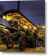 Showmans Engine By Night  Metal Print