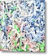Shredded Paper Metal Print by Tom Gowanlock
