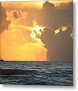 Shrimp Boat Sunrise Metal Print