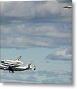 Shuttle Enterprise And Escort Metal Print