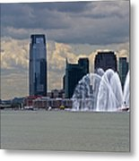 Shuttle Enterprise And Fire Boat Metal Print by Gary Eason