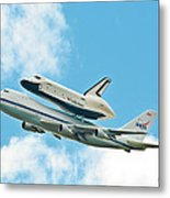 Shuttle Enterprise Comes To Ny Metal Print