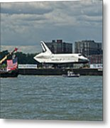 Shuttle Enterprise Flag Escort Metal Print by Gary Eason