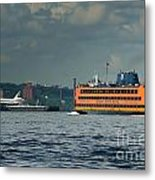 Shuttle Enterprise Glides Past Staten Island Ferry Metal Print by Tom Callan