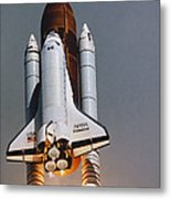 Shuttle Lift-off Metal Print by Science Source