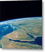 Shuttle Photograph Of The Middle East Metal Print by Nasa