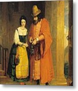 Shylock And Jessica From 'the Merchant Of Venice' Metal Print