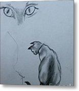 Siamese Cat Study Metal Print