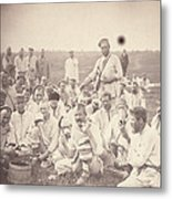 Siberia, Siberian Convicts Taking Lunch Metal Print
