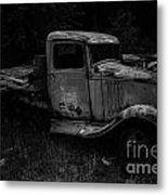 Side View Of A Classic Metal Print