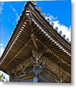 Side View On A Teahouse In Japan Metal Print