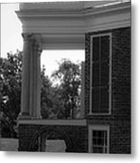 Side View South Portico Bw Metal Print