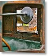 Side View Window Metal Print