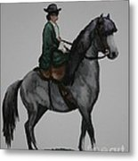 Sidesaddle Metal Print